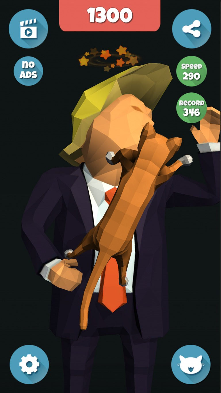 Trump, Fake Slap, Clicker, Idle, Incremental, Game, Joke, Slap, Game development, game design, game art